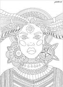 Coloriage sorciere africaine