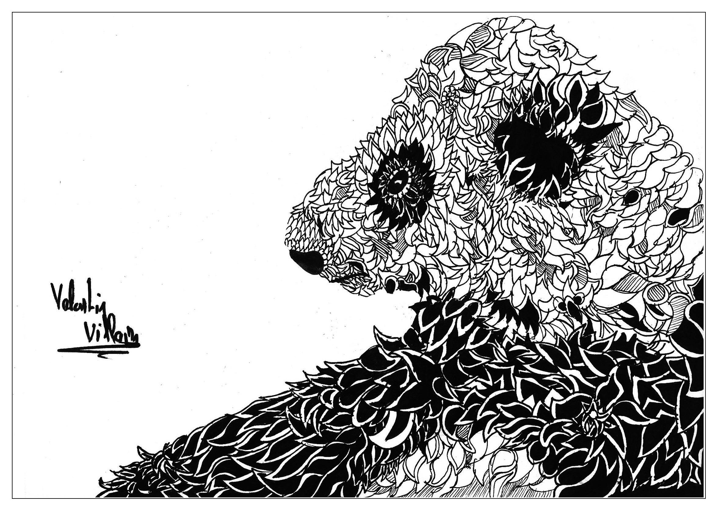 Un panda avec un style bien particulier. | A partir de la galerie : Animaux | Artiste : Valentin