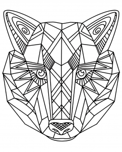 coloriage-adulte-loup-1 free to print