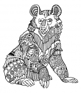 coloriage-adulte-ours-1 free to print