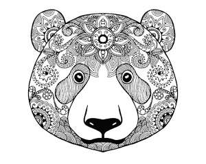 coloriage-adulte-ours-2 free to print