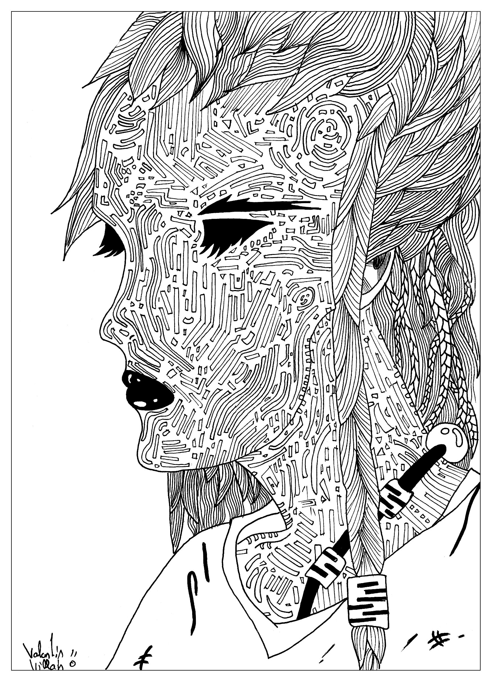 Une femme au visage mysterieuxA partir de la galerie : Calendrier De Lavent 2016Artiste : Valentin