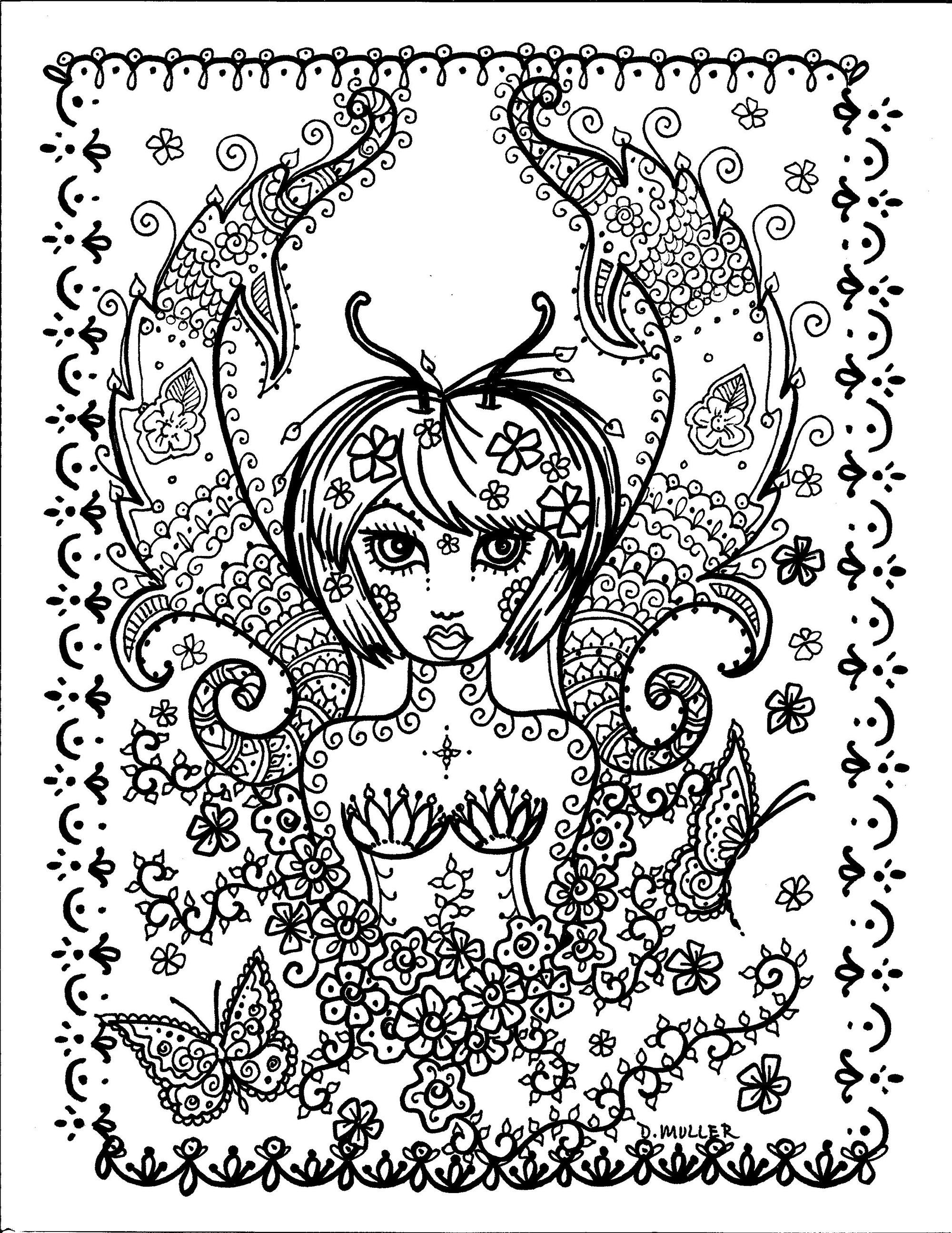 La fille papillon | A partir de la galerie : Anti Stress | Artiste : Deborah Muller