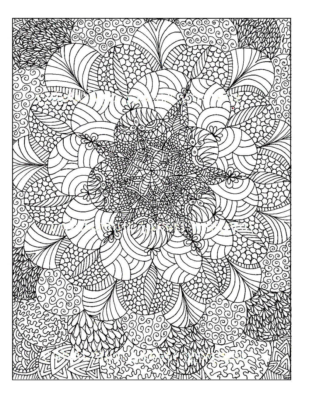 Rosaces anti stress art th rapie coloriages - Coloriage therapie ...