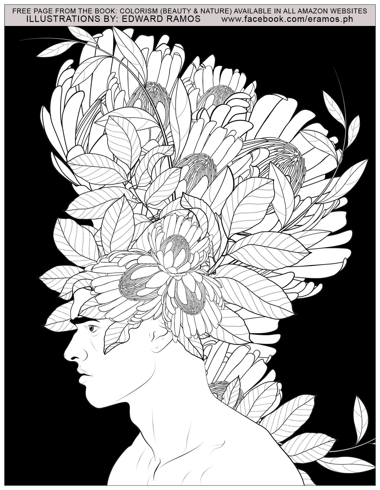 Illustration tirée du livre ' Colorism: Beauty & Nature' d'Edward Ramos - 12