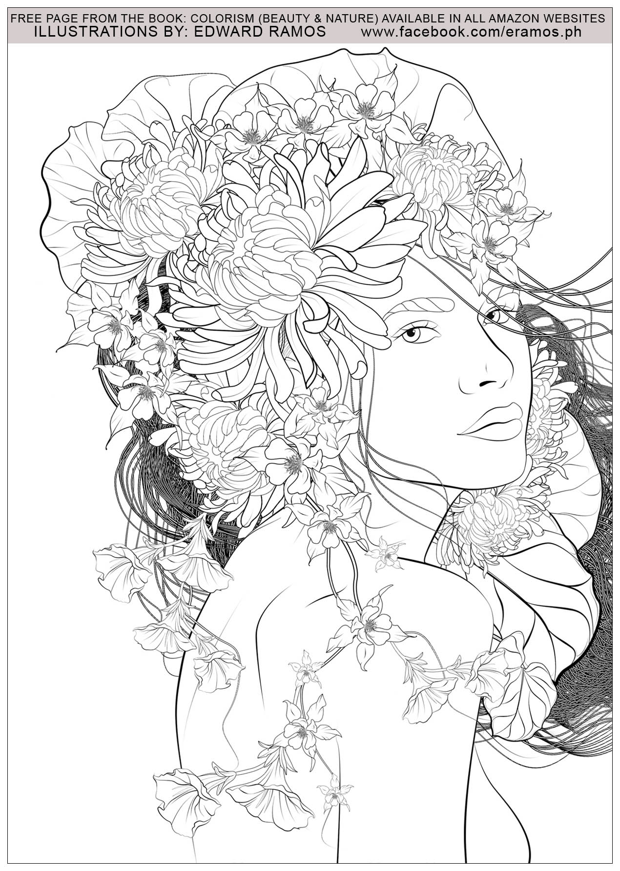 coloriage beauty and nature edward ramos 2