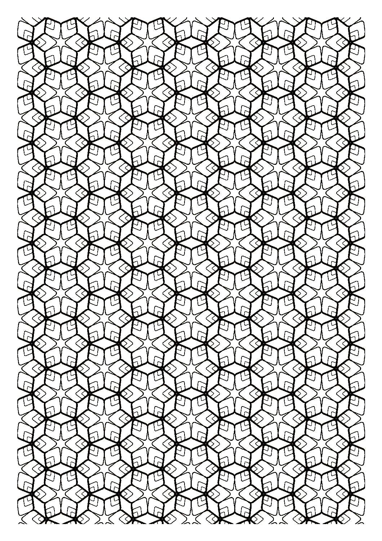 Coloriage Zen Difficile.Zen Symetrie Anti Stress Art Therapie Coloriages