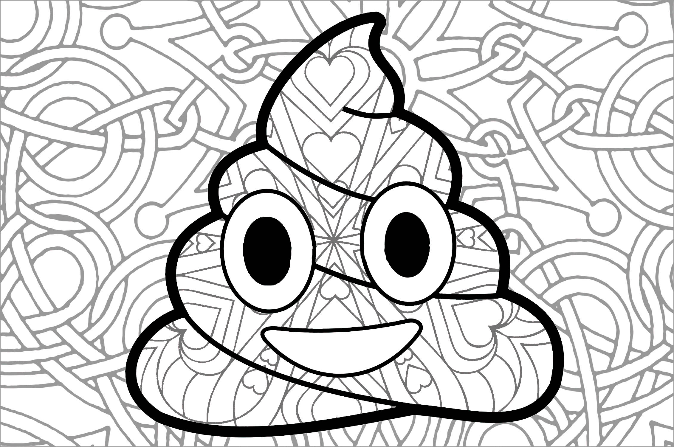 Emotji caca anti stress art th rapie coloriages - Coloriage caca ...