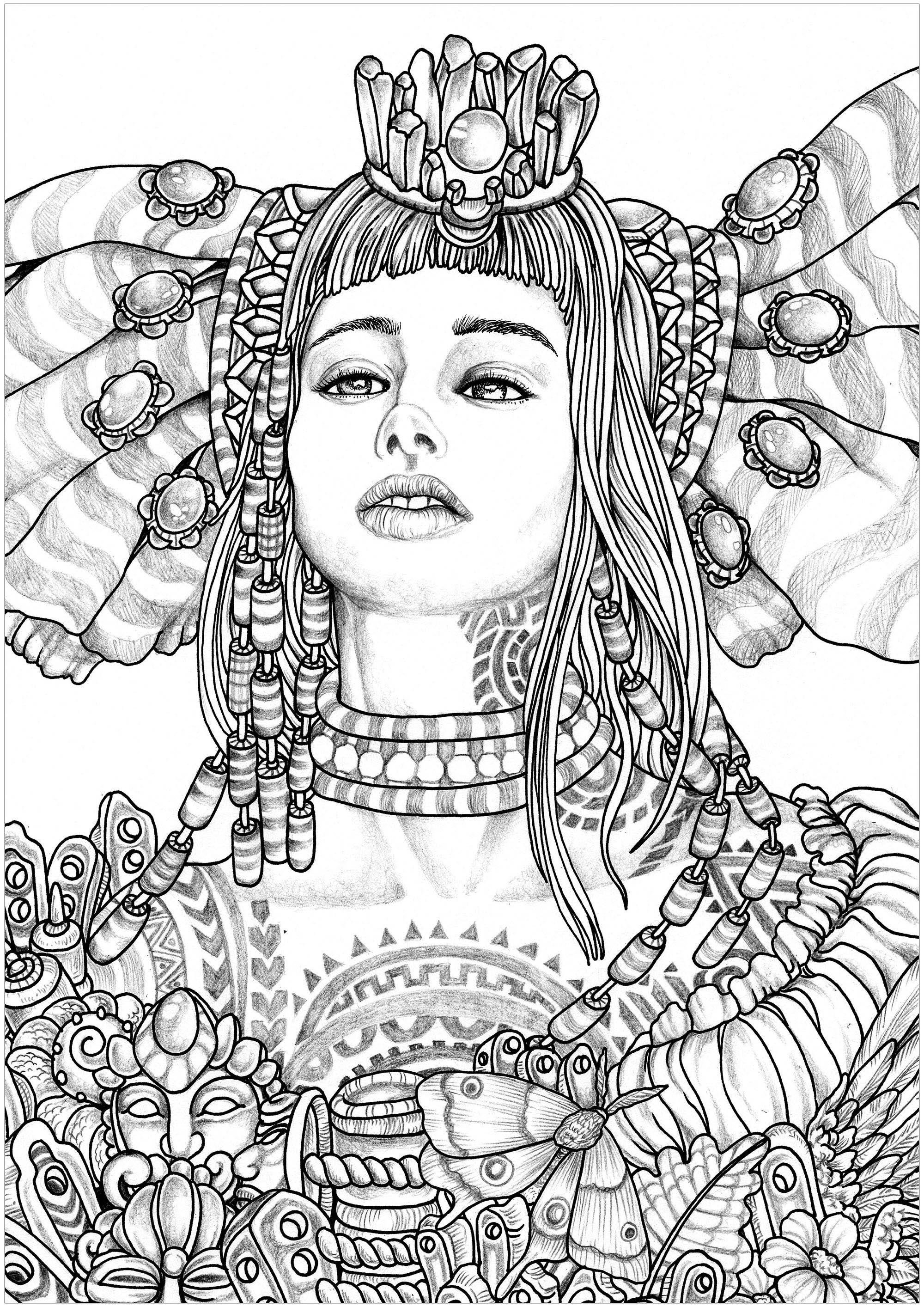 Femme Imahinasyon : Premier personnage (Imahinasyon signifie Imagination en Tagalog : Le tagalog est une langue régionale, qui se parle essentiellement en Asie du Sud-Est et particulièrement aux Philippines)