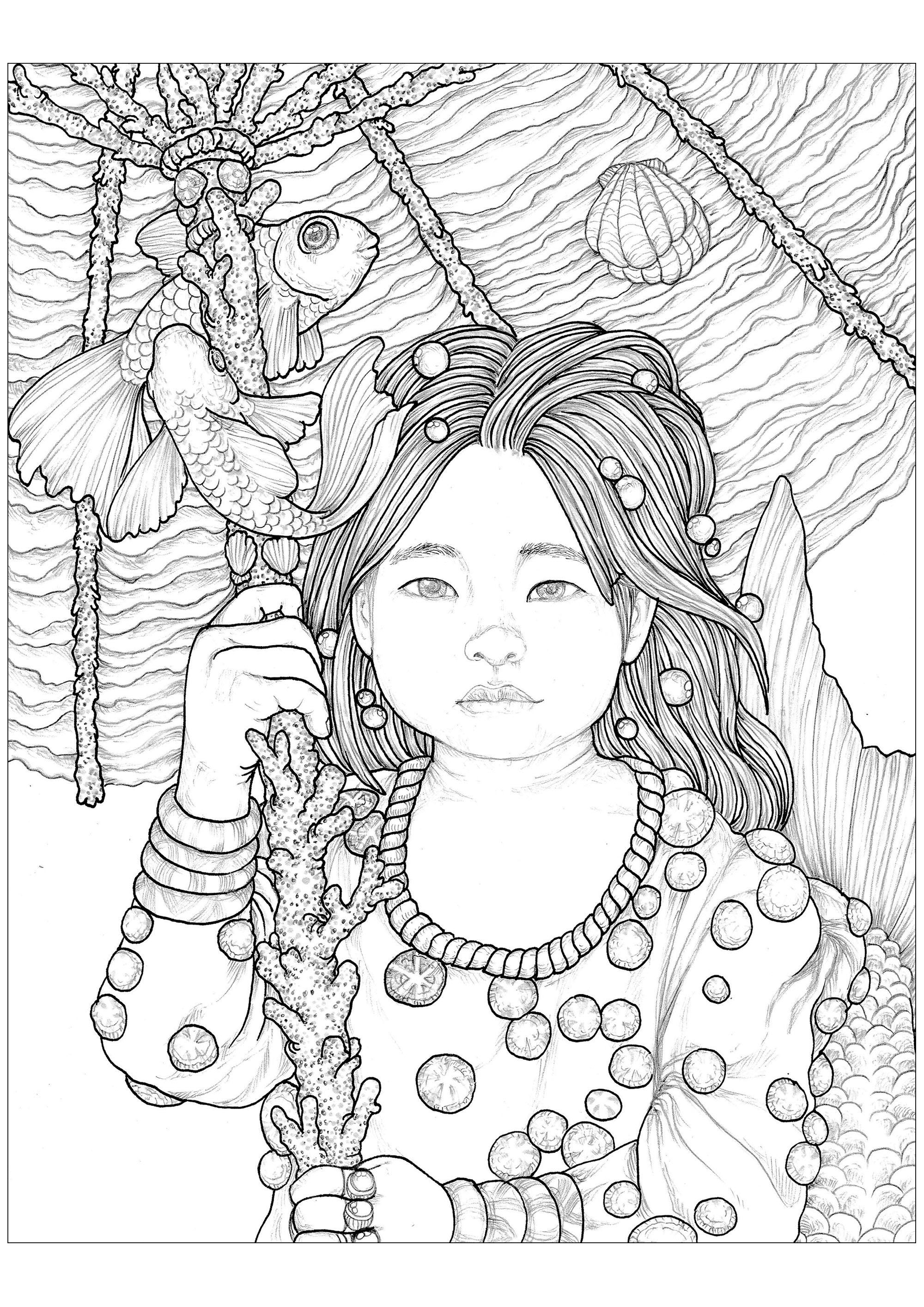 'Enfantasia' : une mystérieuse petite fille à colorier