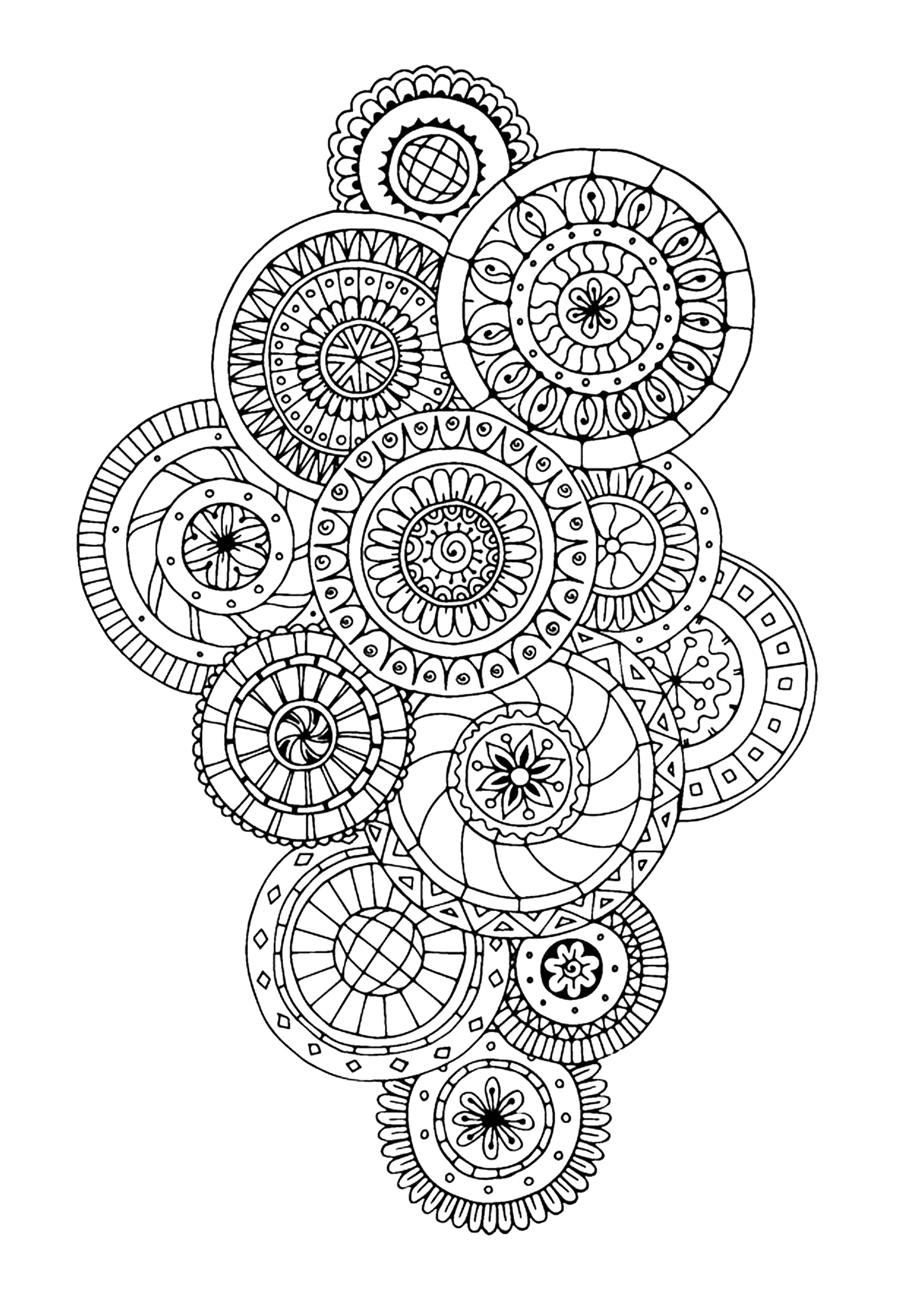 Zen antistress motif abstrait inspiration florale 5 anti stress art th rapie coloriages - Coloriage tatouage ...