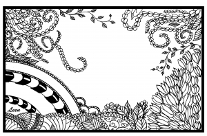 Coloriage adulte leen margot jungle