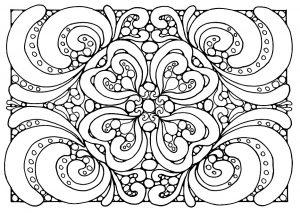 Coloriage adulte motifs