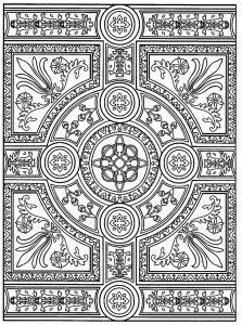 Coloriage adulte zen anti stress a imprimer parquet