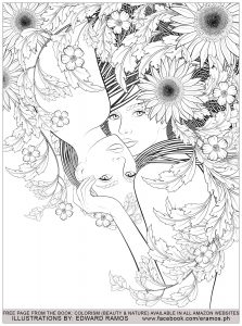 Coloriage beauty and nature edward ramos 1