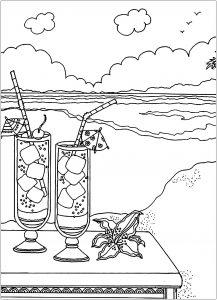 Cocktails sur la plage