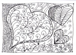 Coloriage coeur zen