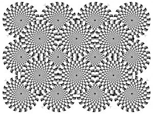 Coloriage difficile illusion optique 2