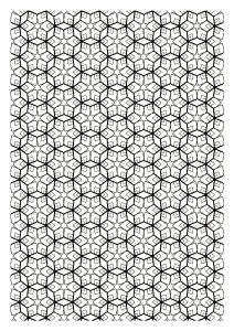 Coloriage difficile zen symetrie