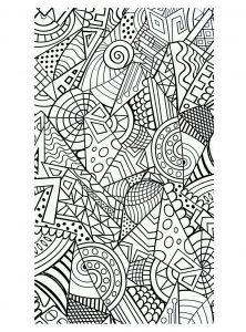 Coloriage formes geometriques harmonieuses