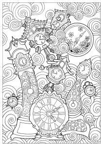 Coloriage horloges konstantinos liaramantzas