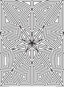 Coloriage labyrinthe fleurs zen