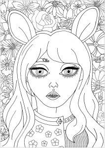 Portrait floral