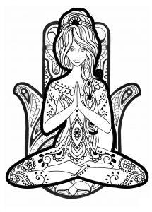 Coloriage yoga 2