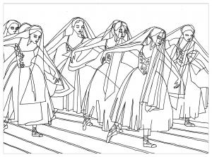 Coloriage adulte ballet giselle par marion c