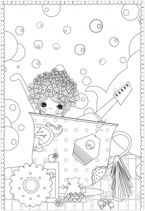 Coloriage bain tasse de the sans texte