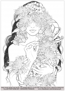 Coloriage beauty and nature edward ramos 5