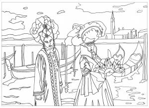 Coloriage carnaval de venise par marion