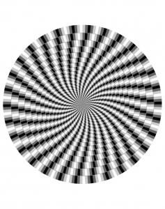 Coloriage difficile illusion optique 1