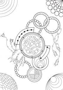 Mélange entre Mandalas et Dreamcatchers