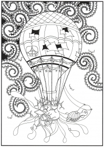 Coloriage montgolfiere par Mimieve