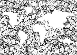 Planète Terre et Vagues   1