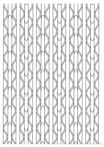 Coloriage zen motifs lignes