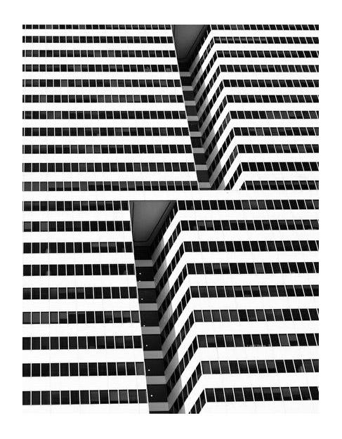 Etranges buildings zébrés