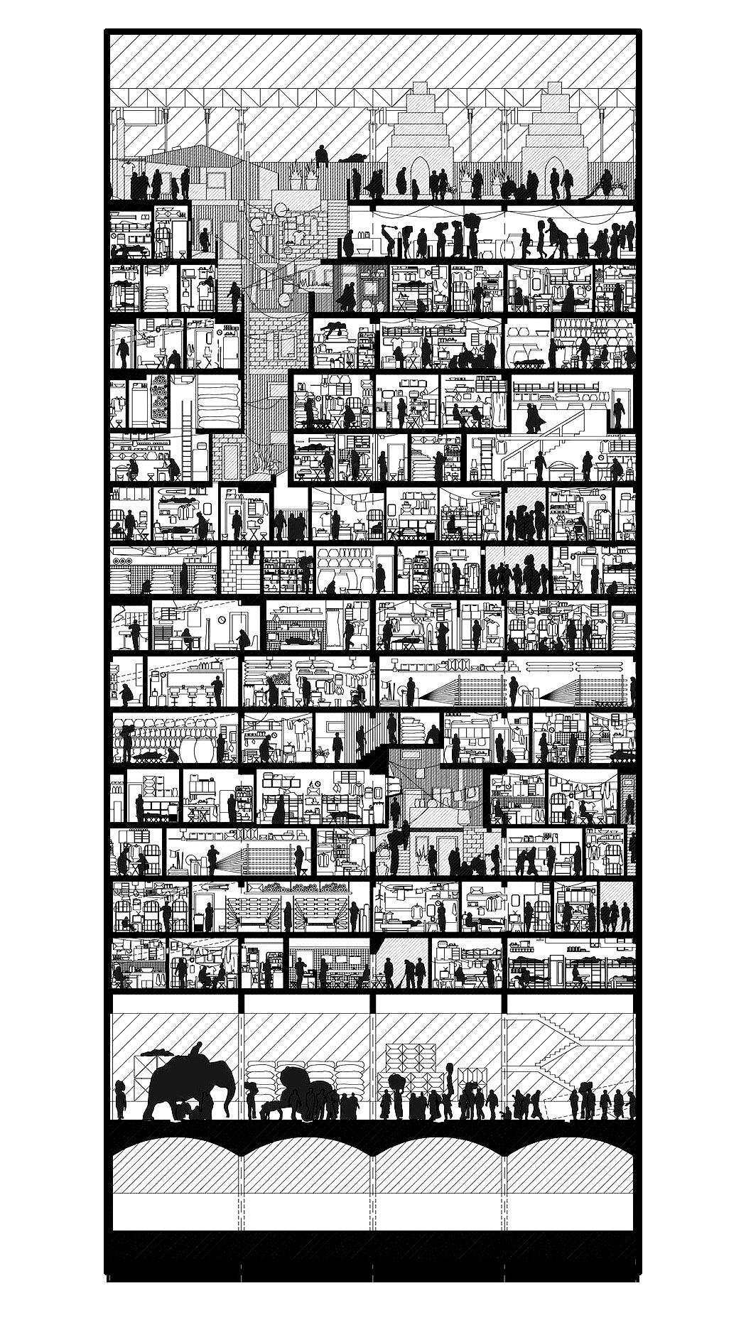 La vie dans un building