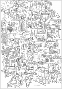 coloriage-adulte-complexe-meli-melo free to print
