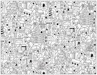 coloriage-adulte-doodle-batiments-ville free to print
