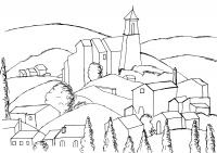Coloriage gadanne d apres cezanne par olivier etape 1
