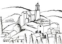 Coloriage gadanne d apres cezanne par olivier etape 2