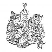coloriage-houses-a-partir-d-un-reve-d-enfant-par-tanyalmera-123rf free to print