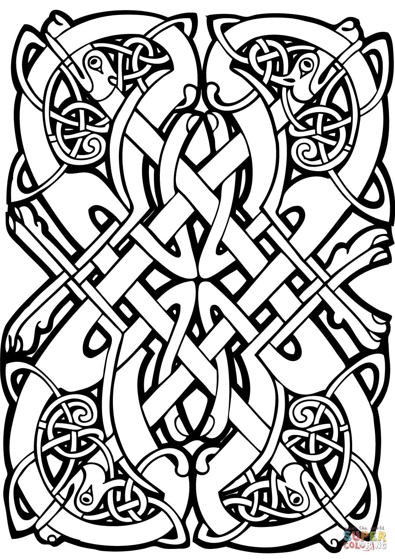 Coloriage Anti Stress Celtique.Art Celtique 11 Art Celtique Coloriages Difficiles Pour