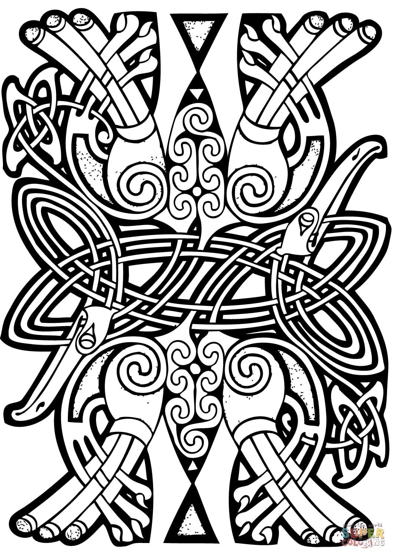 Art celtique : éléments abstraits entrelacés