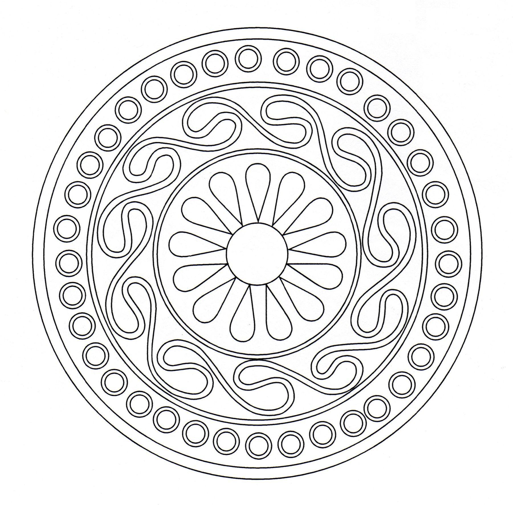 Art celtique : entrelacs formant un Mandala