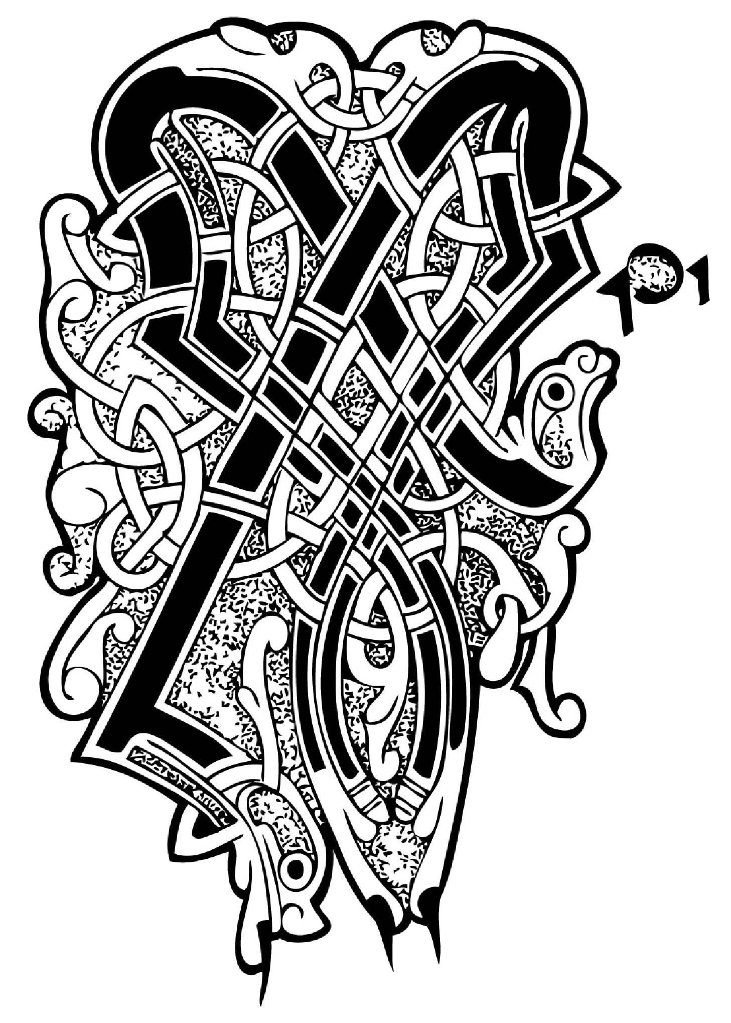 Dessin inspiré par l'Art Celtique
