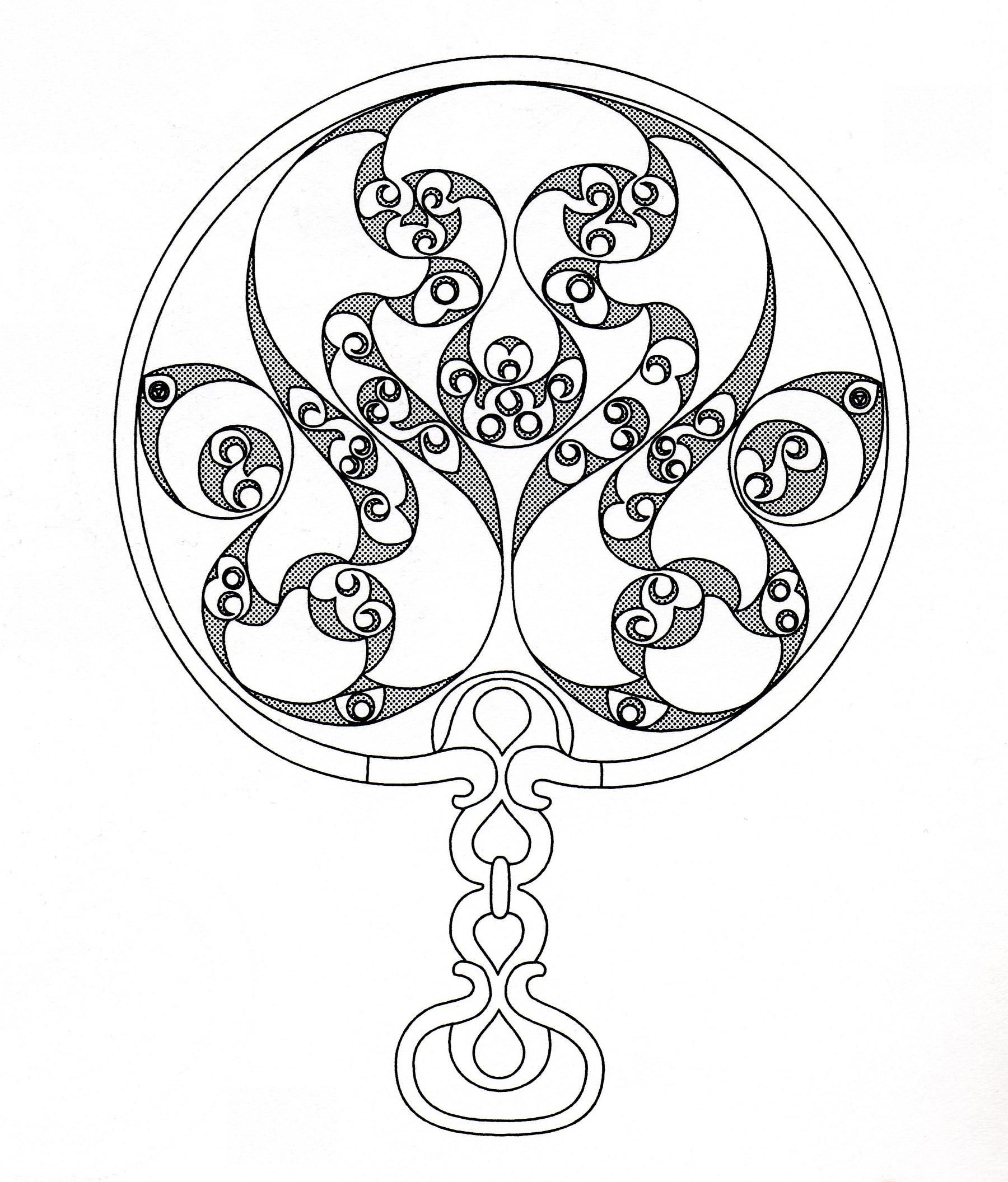 Art celtique : éléments entrelacés ressemblant à un bijou