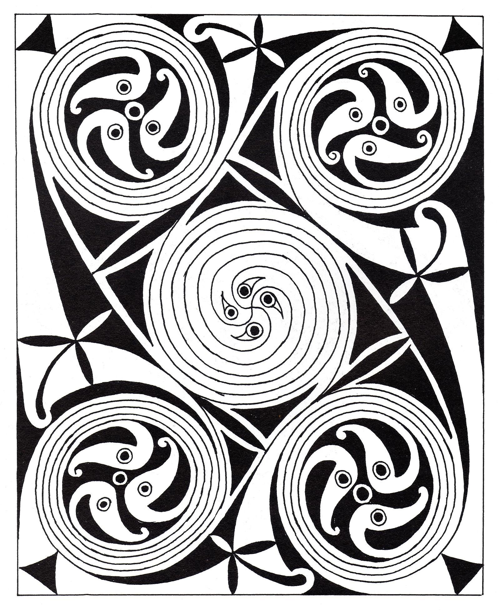 Coloriage Anti Stress Celtique.Art Celtique 31 Art Celtique Coloriages Difficiles Pour